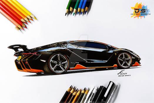 Lamborghini Centenario Drawing