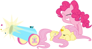 Fluttershy's Party Cannon by masemj