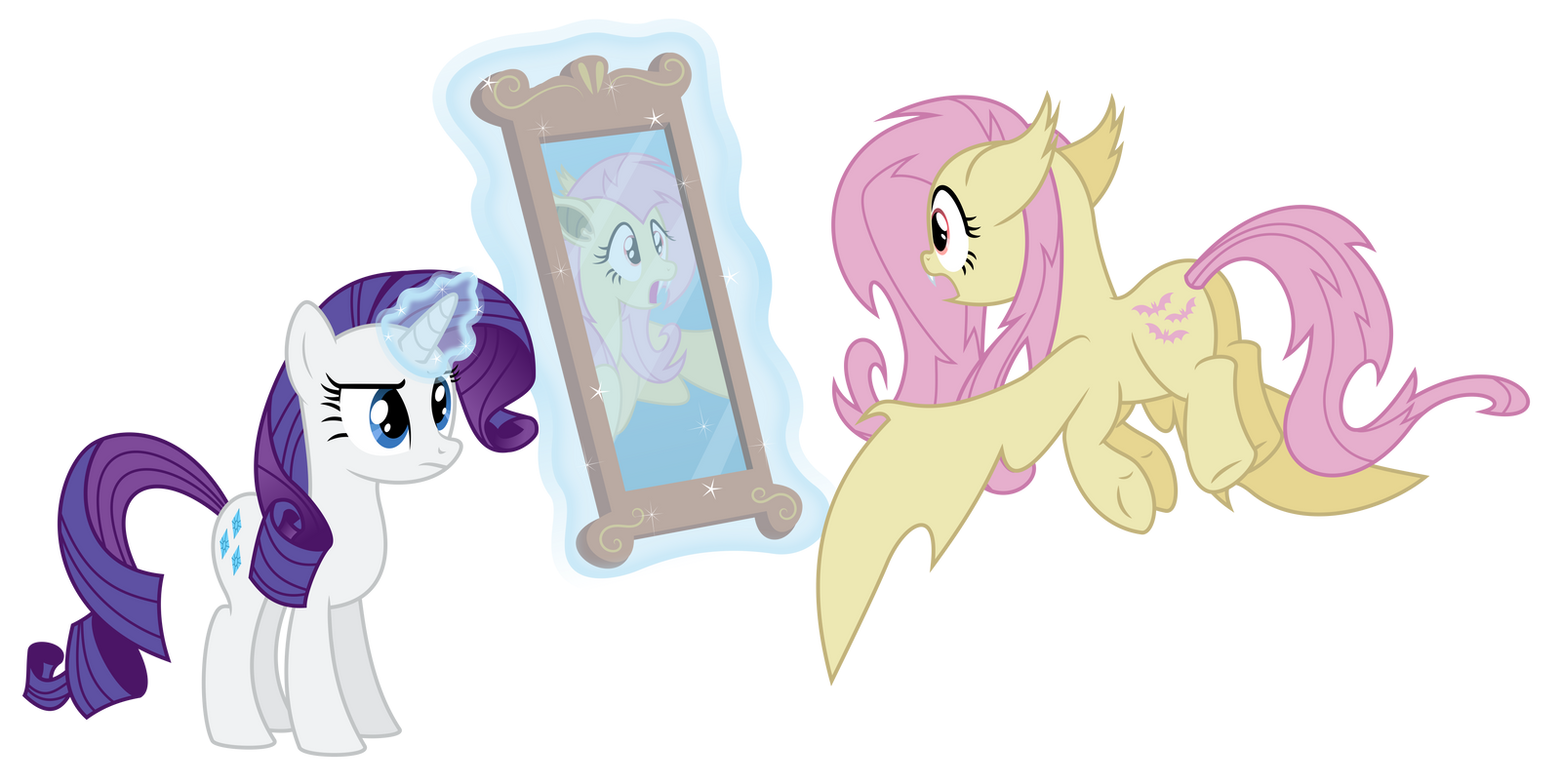 Flutterbat Staring At Herself by masemj