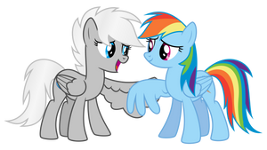 Request: Winter Storm and Rainbow Dash by masemj