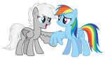 Request: Winter Storm and Rainbow Dash
