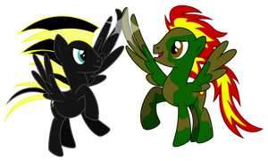 Request: Camofire And Zap Wing-Five by masemj