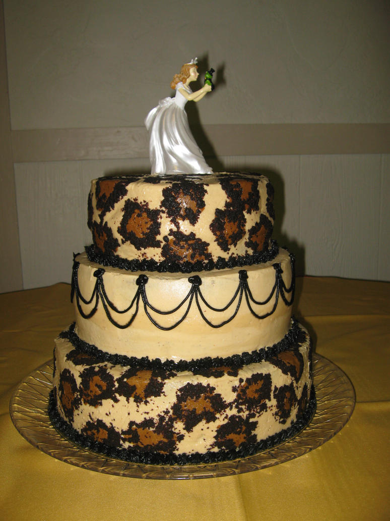 leopard wedding cake by fallenangel5772 on deviantart