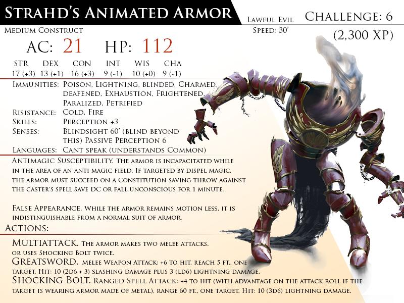 Animated Armor, Strahd's by Almega-3 on DeviantArt