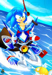Surfing on Metal Sonic