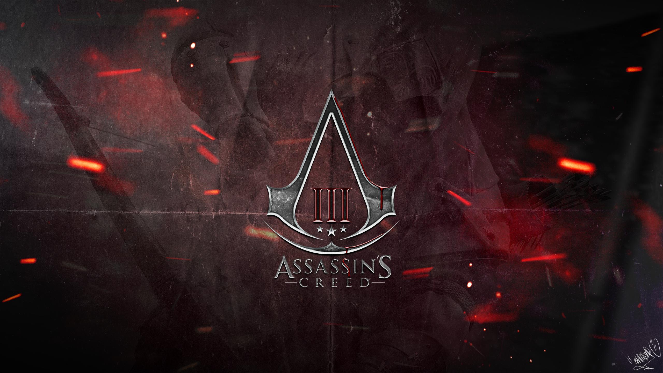 Assassin S Creed 3 Logo Wallpaper By Emperaa On Deviantart