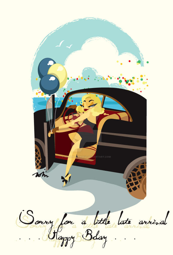 Pin Up in Vintage Car by NinaMierowska