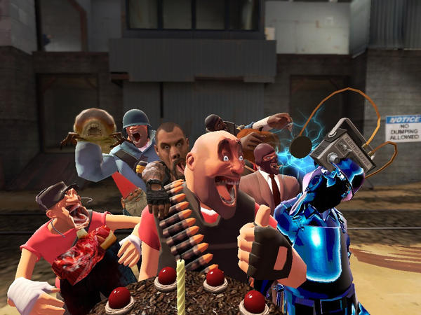 Group of Gmod Team Fortress 2