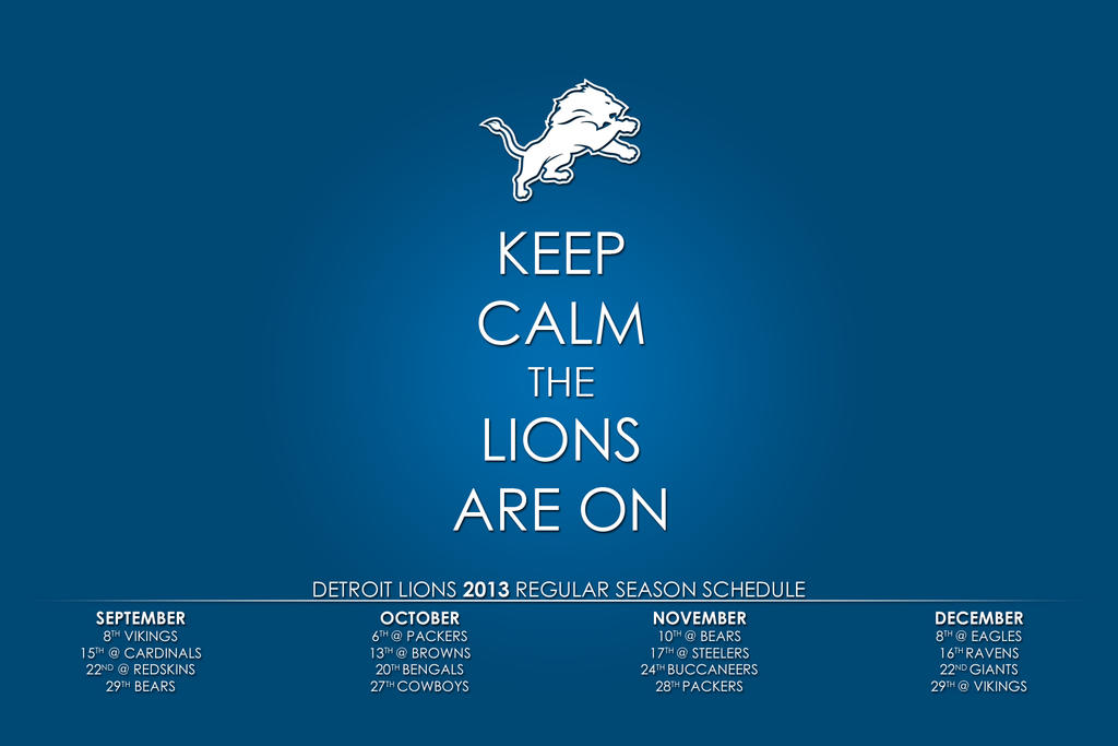 2013 Detroit Lions Wallpaper 1920x1280 By Thirty1photog