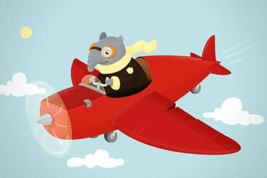 Flying Tapir by kirschstern