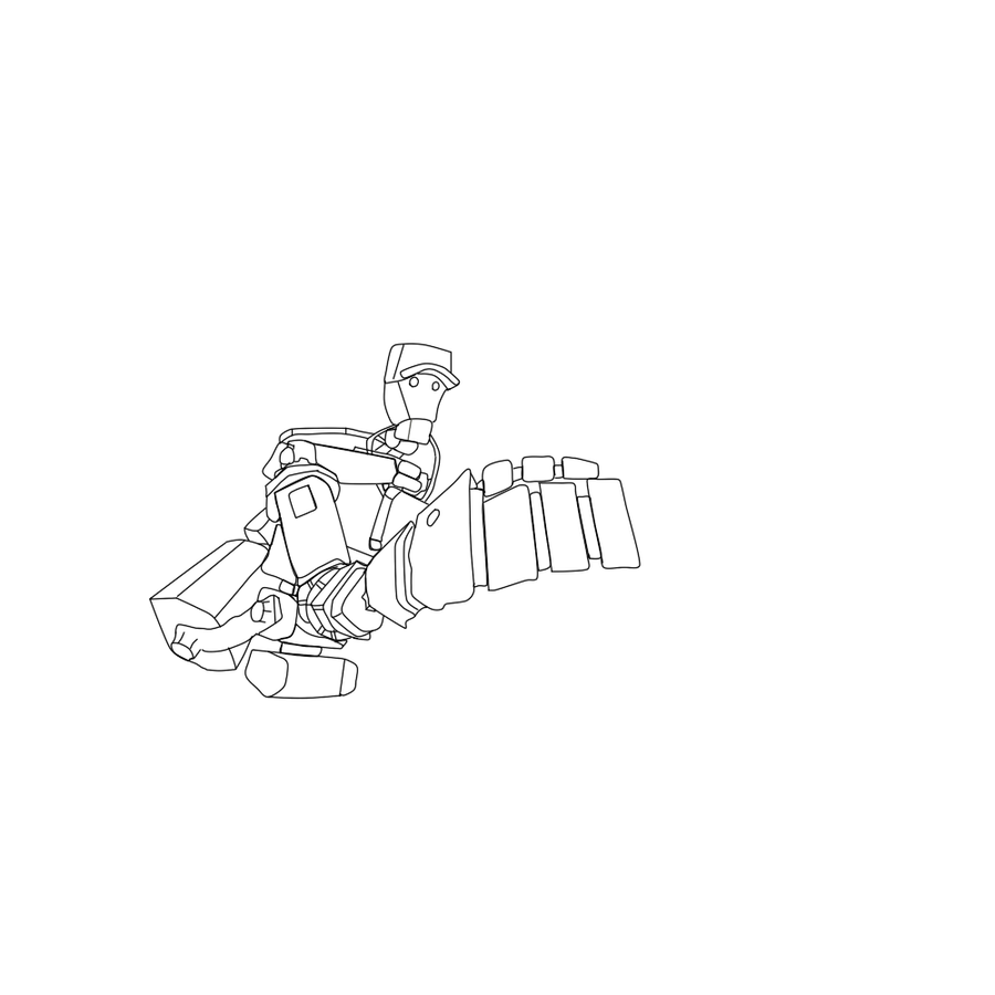 Robo scout team fortress 2 line art by soriozorio on for Team fortress 2 coloring pages