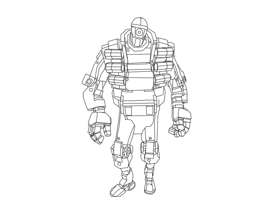 Robo demoman team fortress 2 line art by soriozorio on for Team fortress 2 coloring pages
