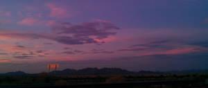 Sunset Roadsign
