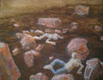 Rockfall painting in progress