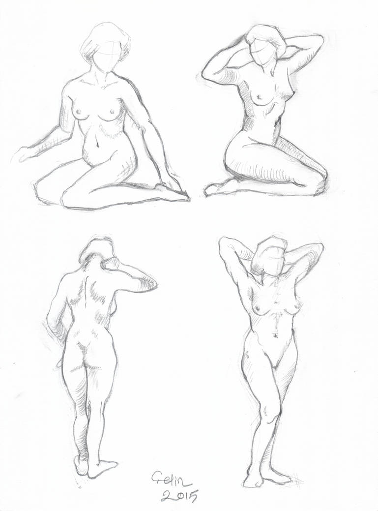 Female figures drawing by cetinsualp