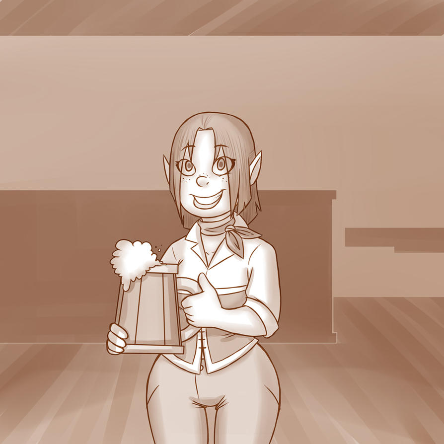 Halfling Innkeeper by professor-ponyarity