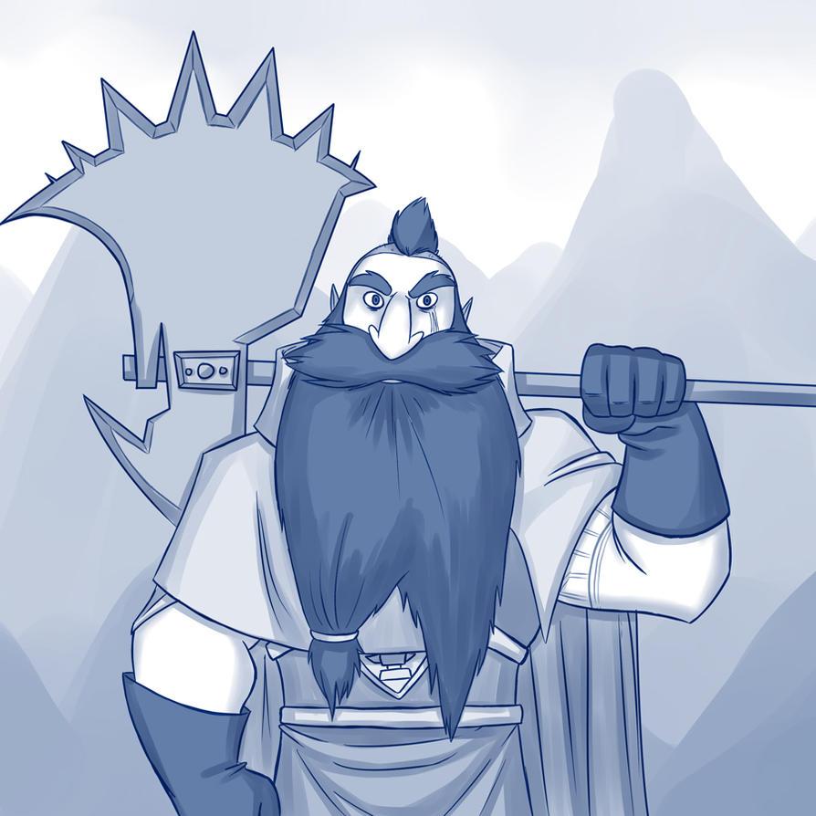 Dwarf Mohawk (Progression) by professor-ponyarity