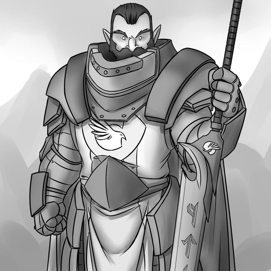 Hulking Knight by professor-ponyarity