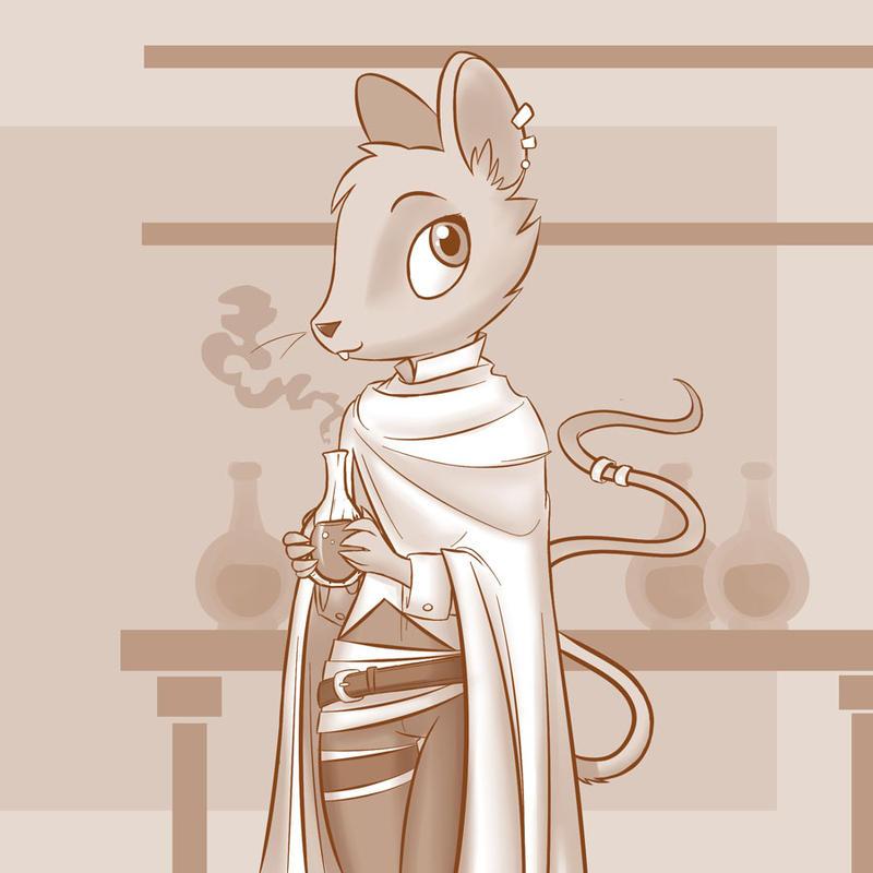 Rat-folk Alchemist by professor-ponyarity