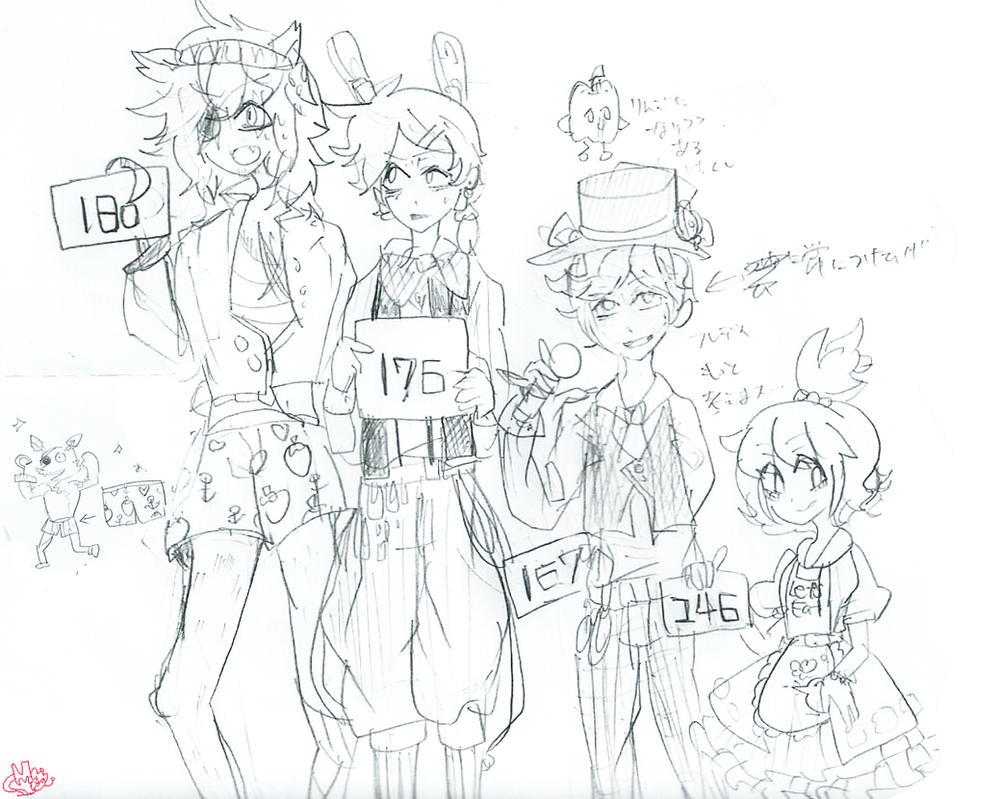Human fnaf by momo chee on deviantart for Fnaf anime coloring pages