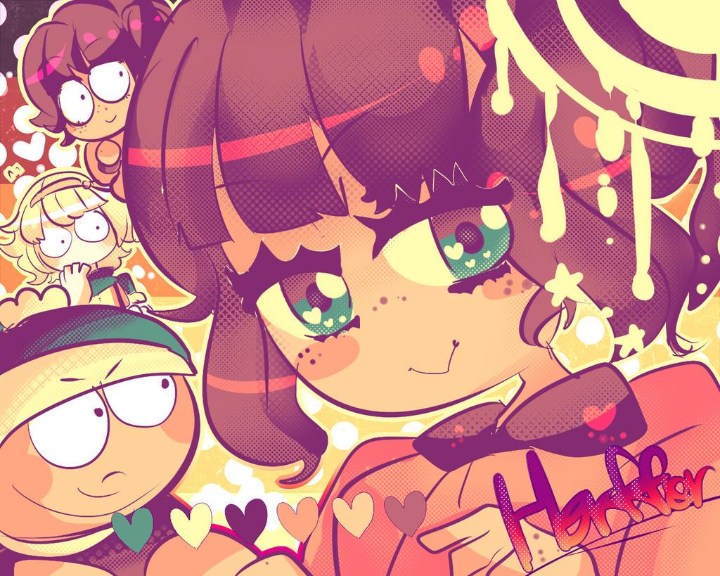 Heffer and cuties  ((Random Palette Challenge 1)) by Momo-chee