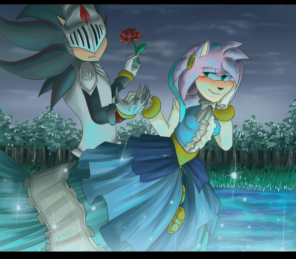 Shadow And Amy Sonic Black Knight By CrazySonyaTheChaos The