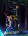 Shadow Lancelot and Amy Rose Lady of the Lake