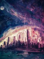 Under the purple sky by Ricky-Gonza