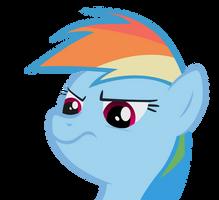 Displeased Rainbow Dash by punchingshark
