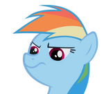 Displeased Rainbow Dash