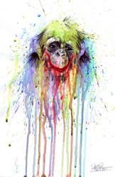 monkey number3 by lora-zombie
