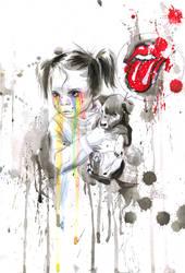 Rainbow Tears by lora-zombie