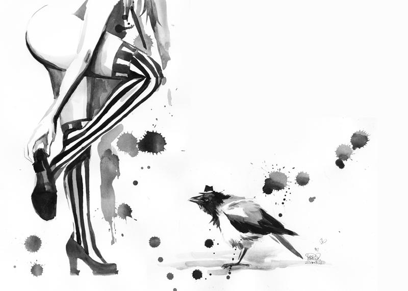 WHITE STRIPES by lora-zombie