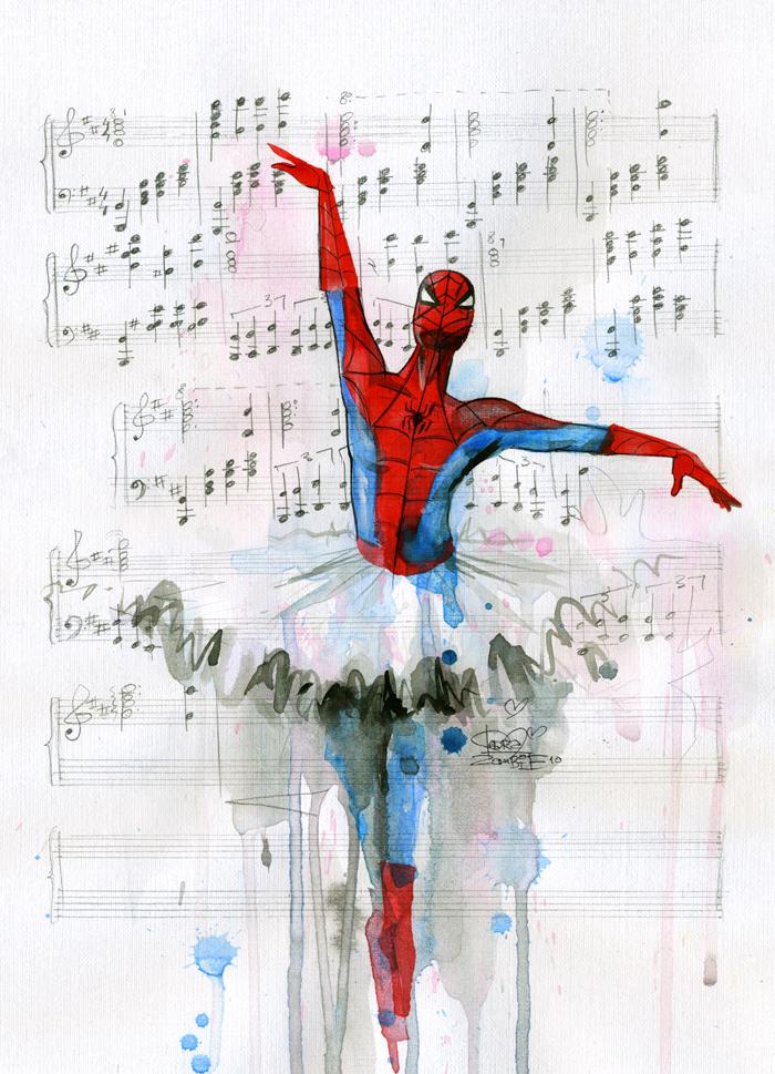 Thumb Dibujo: Spider-Man con tutú de ballet
