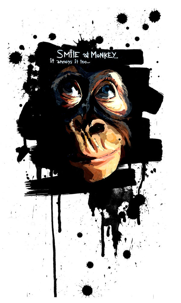 Monkey Smile edit by lora-zombie