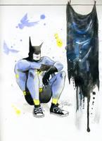 Depressive Batman by lora-zombie