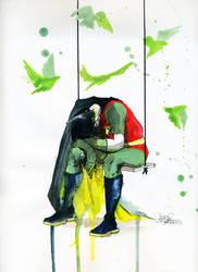 Depressive Robin by lora-zombie