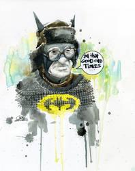 Old Batman by lora-zombie