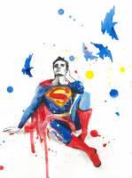DEPRESSIVE SUPERMAN by lora-zombie