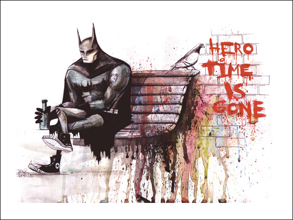 HERO TIME IS GONE PRINTS by lora-zombie