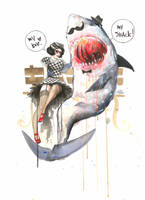 Mr. Shark by lora-zombie