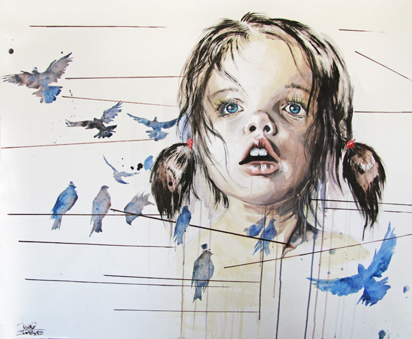 GIRL BIRDS by lora-zombie