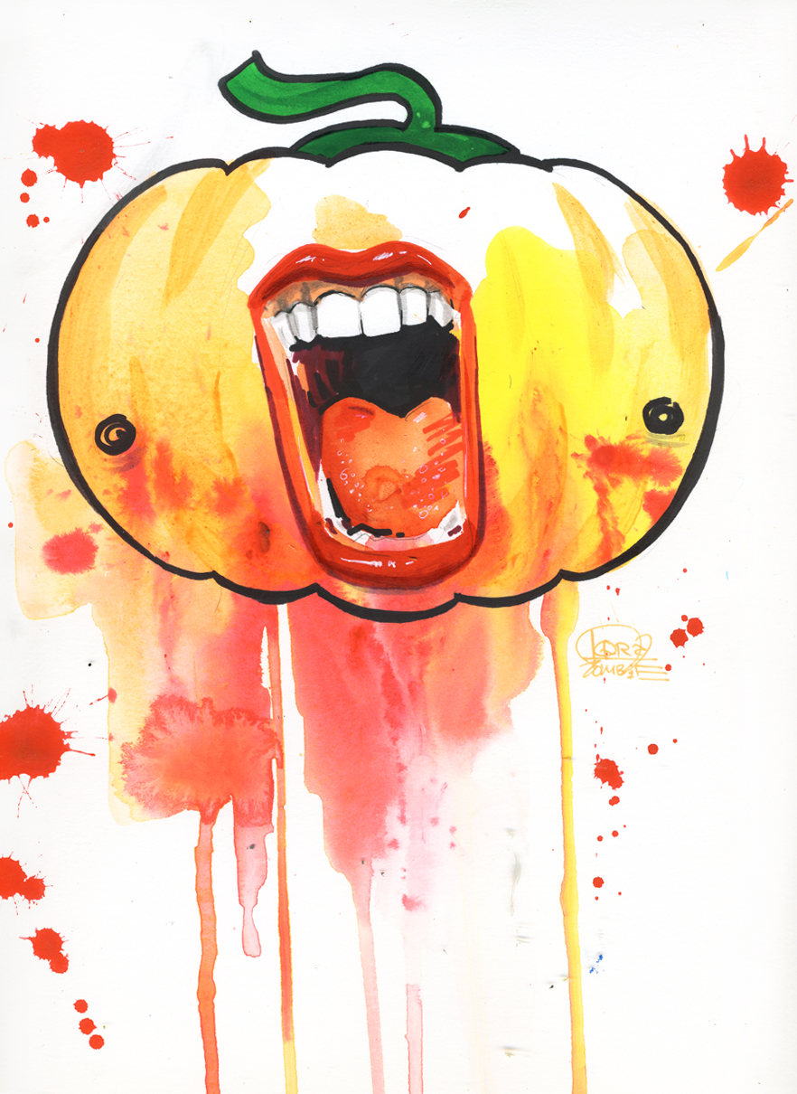 Mr Pumpkin by lora-zombie