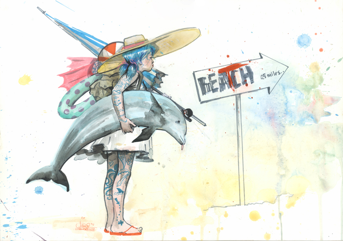 BEATCH GIRL by lora-zombie