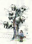 Panda-tree by lora-zombie