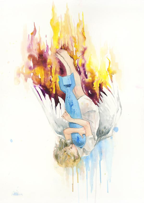 Falling Angel by lora-zombie