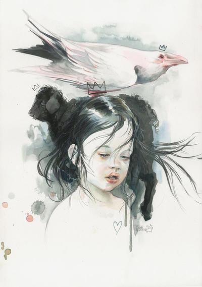 White crow Black sheep by lora-zombie