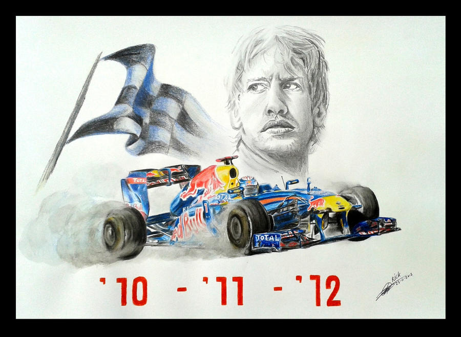 2012 F1 champion - Sebastian Vettel by RBF-productions-NL