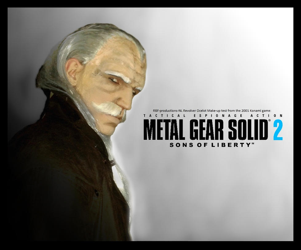 Metal Gear - Revolver Ocelot 2nd make-up test by RBF-productions-NL