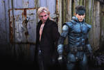 The Twin Snakes: Solid and Liquid Snake cosplay